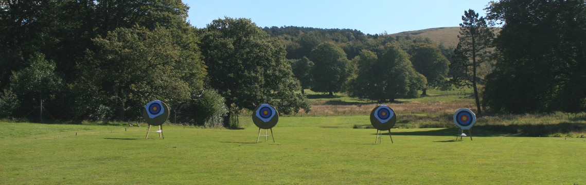 Photo of the Bowmen of Lyme grounds in summer